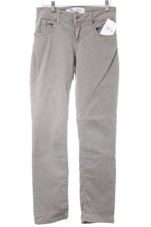 Made in Italy Röhrenjeans hellgrau Jeans-Optik