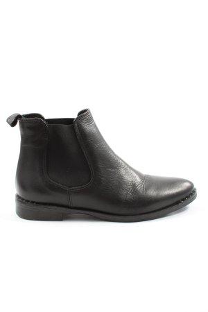 Made in Italy Schlüpf-Stiefeletten schwarz Casual-Look
