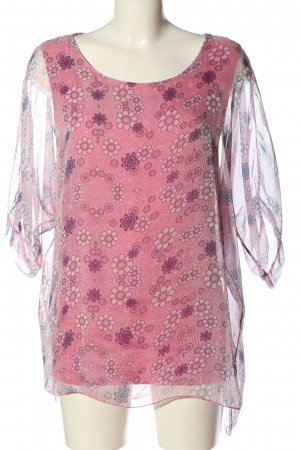 Made in Italy Schlupf-Bluse pink-lila abstraktes Muster Casual-Look