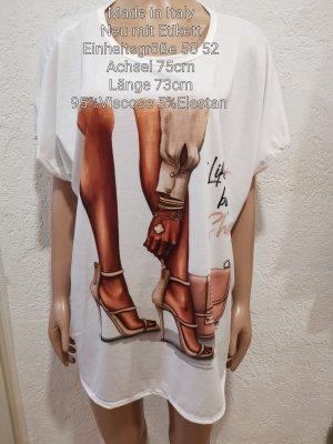 Made in Italy Koszulka oversize biały