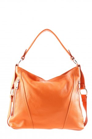 Made in Italy Schultertasche hellorange Business-Look