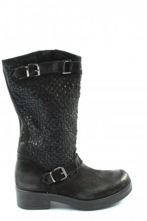 Made in Italy Slouch Boots black casual look