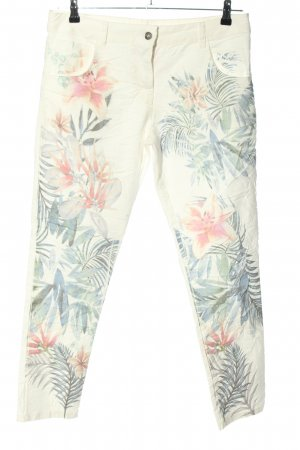 Made in Italy Stoffhose Blumenmuster Casual-Look
