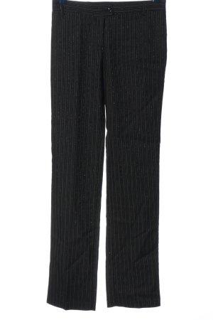 Made in Italy Stoffhose schwarz-weiß Streifenmuster Business-Look