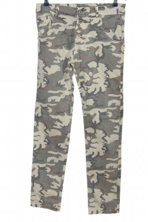 Made in Italy Straight-Leg Jeans Camouflagemuster Casual-Look