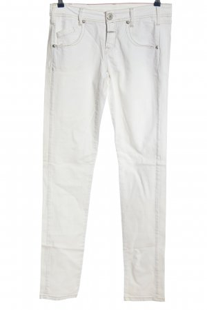 Made in Italy Straight-Leg Jeans weiß Casual-Look