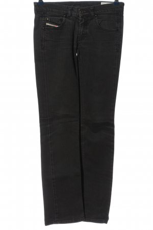 Made in Italy Straight-Leg Jeans schwarz Casual-Look