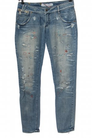 Made in Italy Straight-Leg Jeans blau Casual-Look