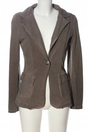 Made in Italy Knitted Blazer brown themed print elegant