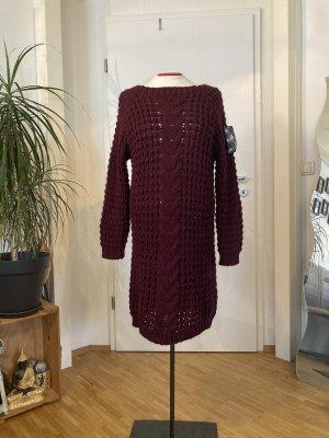 Made in Italy Strickkleid weinrot Gr M/L Boho Blogger Winterkleid