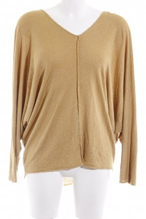 Made in Italy Strickpullover dunkelgelb Casual-Look