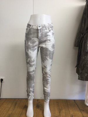 Made in Italy Style 3D Hose / Jeans schwarz weiss M/42
