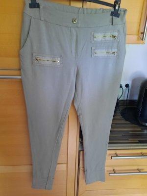 Made in Italy Spodnie dresowe jasnobeżowy Bawełna
