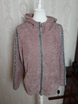 Made in Italy Veste à capuche vieux rose polyester