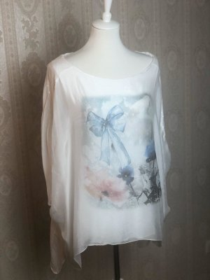 Made in Italy Transparent Blouse multicolored