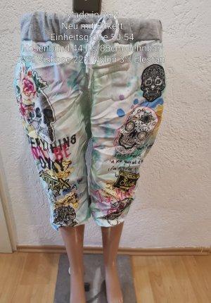 Made in Italy Totenkopf Capri Shorts Größe 52 54 Einheitsgröße