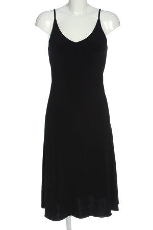 Made in Italy Trägerkleid schwarz Elegant
