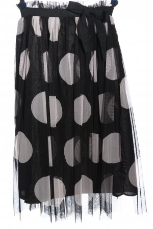 Made in Italy Tulle Skirt black-light grey allover print casual look