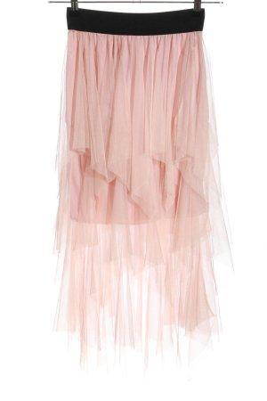 Made in Italy Jupe en tulle rose-noir élégant