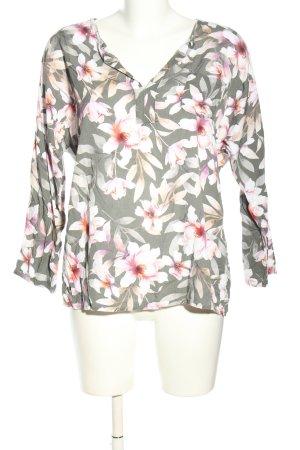 Bluzka koszulowa bez ramion w kwiaty Made in Italy
