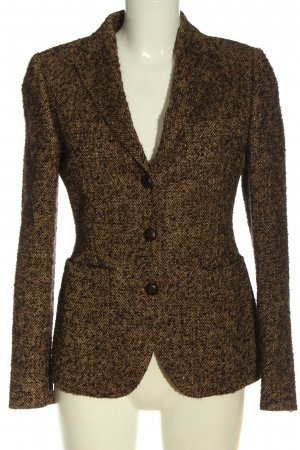 Made in Italy Tweedblazer khaki Allover-Druck Casual-Look