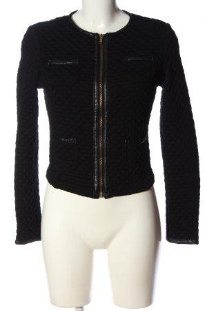 Made in Italy Kurtka przejściowa czarny Pikowany wzór W stylu casual