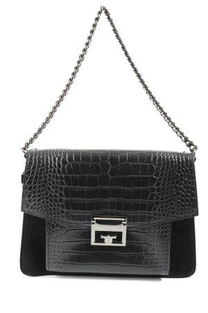 Made in Italy Umhängetasche schwarz Casual-Look