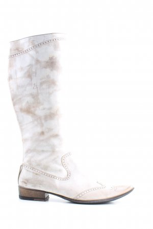 Made in Italy Western Laarzen wolwit abstract patroon casual uitstraling
