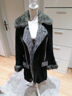 Made in Italy Abrigo de lana negro