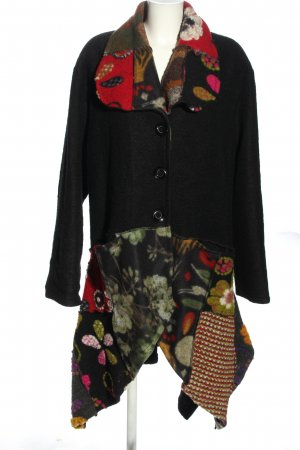 Made in Italy Wollen jas bloemenprint casual uitstraling