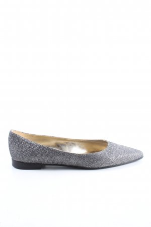 Madeleine Ballerinas with Toecap light grey allover print business style