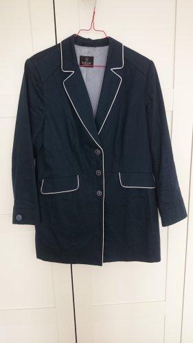 Madeleine Blazer Longblazer Jacke blau weiß Matrosen-Look Gr. 44