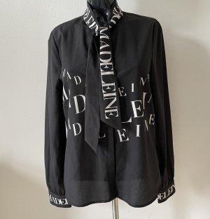 Madeleine Long Sleeve Blouse black-white