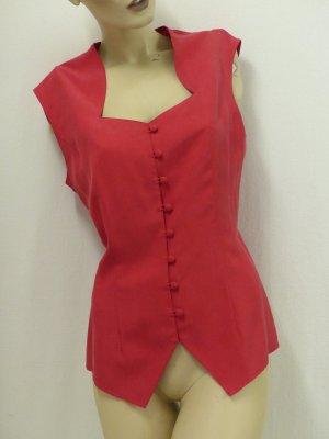 Madeleine Silk Top red-carmine silk