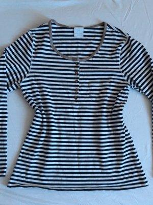 MADELEINE Bluse Tunika Baumwolle shirt Streifen gestreift m 38