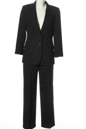 Madeleine Business-Anzug schwarz-weiß Allover-Druck Business-Look