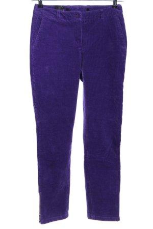 Madeleine Pantalon en velours côtelé violet style décontracté