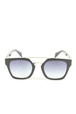 Madeleine eckige Sonnenbrille schwarz Casual-Look