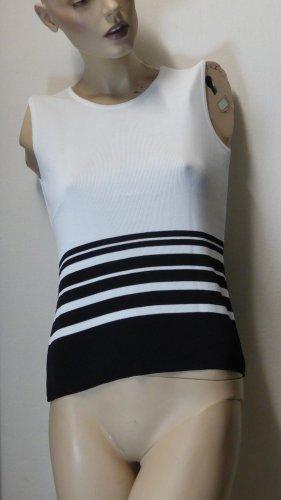 Madeleine Fijn gebreide cardigan wit-zwart Viscose