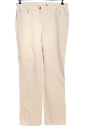 Madeleine Pantalon cinq poches crème style décontracté
