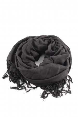 Madeleine Fringed Scarf black casual look