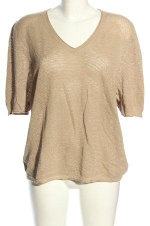 Madeleine Gehaakt shirt bruin casual uitstraling