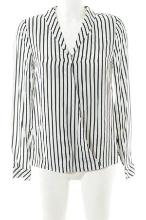 Madeleine Hemd-Bluse weiß-schwarz Streifenmuster schlichter Stil