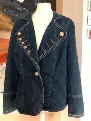Madeleine Blazer in jeans blu acciaio Cotone