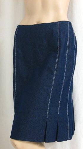 Madeleine Godetrok donkerblauw-wit Gemengd weefsel