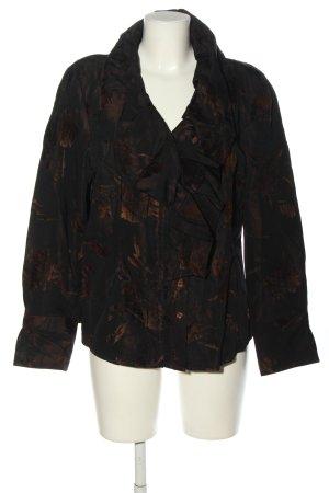 Madeleine Jerseyblazer schwarz-braun abstraktes Muster Casual-Look
