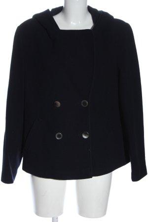 Madeleine Cappotto con cappuccio nero stile casual