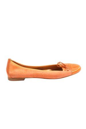 Madeleine Klassische Ballerinas hellorange Business-Look