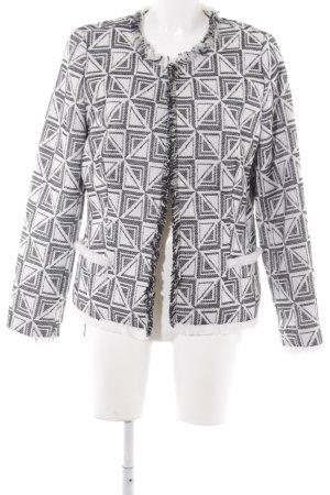 Madeleine Kurz-Blazer schwarz-weiß abstraktes Muster Casual-Look