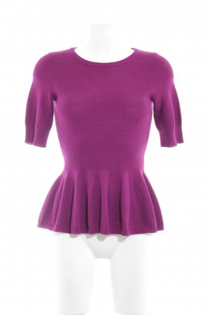 Madeleine Short Sleeve Sweater lilac wool